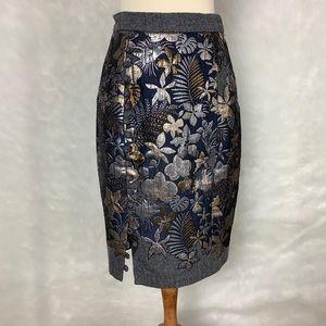 Hemant & Nandita Gilded Garden Skirt